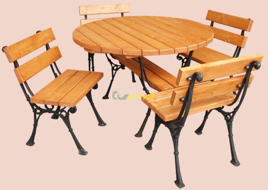 1aba62cf1f0a Drewal Záhradné sedenie Koval 1+4 stôl 110 drevo + oceľ