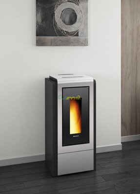 La Nordica Extraflame Megan Idro Steel silver 12kw teplovodné krbové kachle na pelety
